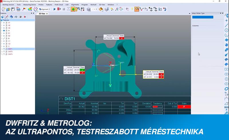 DWFritz és Metrolog X4 - Komplex alkatrész vizsgálata érintésmentesen + kérdések és válaszok